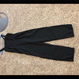 black pant leg romper ROMWE
